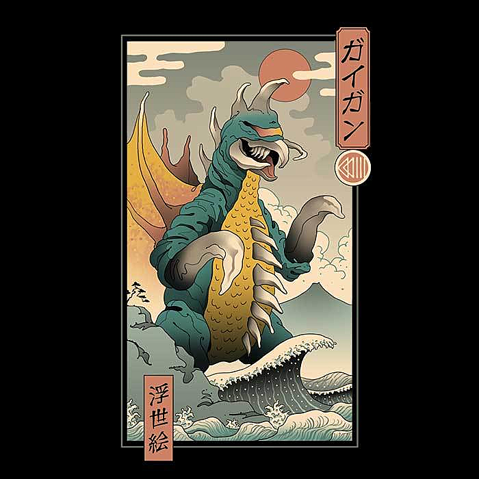 Once Upon a Tee: Alien Kaiju Ukiyo-e