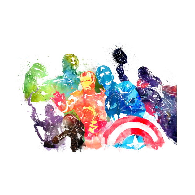 TeePublic: Avengers Watercolor