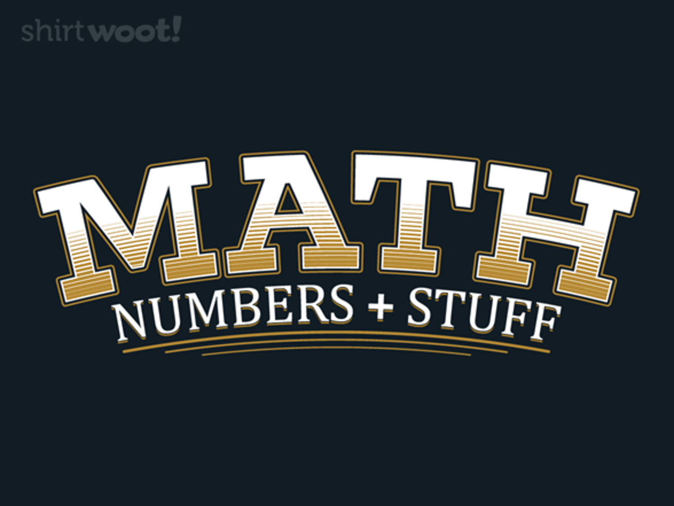 Woot!: Numbers and Stuff - $15.00 + Free shipping