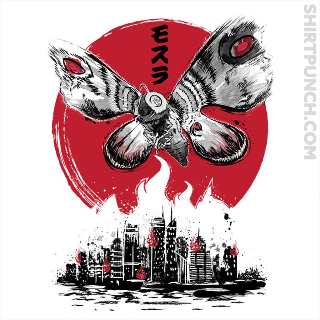 ShirtPunch: Giant Moth Attack Sumi-e