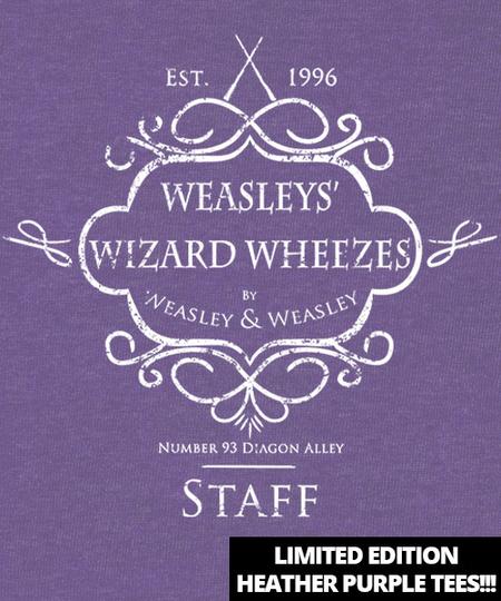 Qwertee: Weasley's Wizard Wheezes Staff