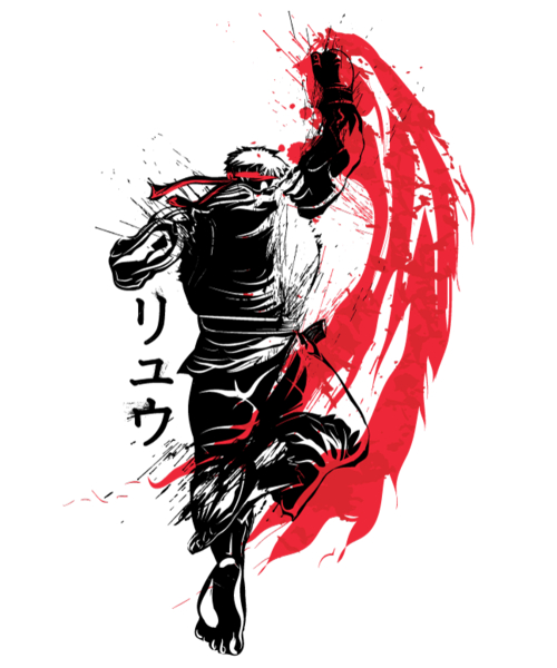 Qwertee: Traditional Fighter