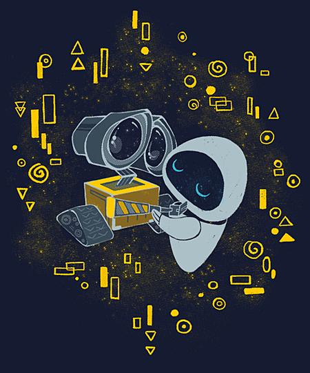 Qwertee: WALL•E kiss