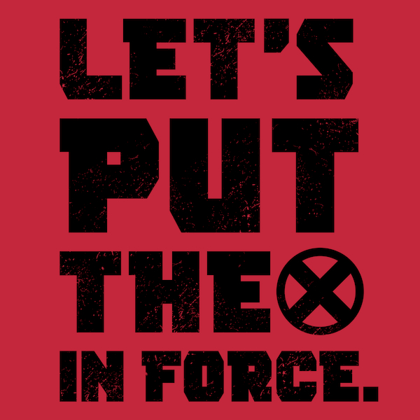 NeatoShop: Let's Put the X in Force - Black Vintage