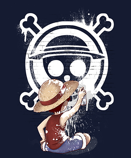 Qwertee: Graff Luffy