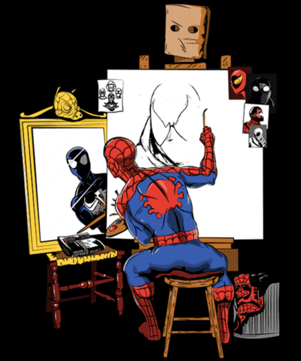 Qwertee: Triple Spider Portrait