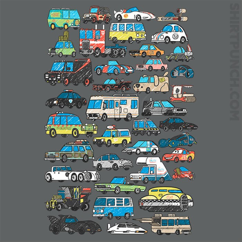 ShirtPunch: Famous Cars