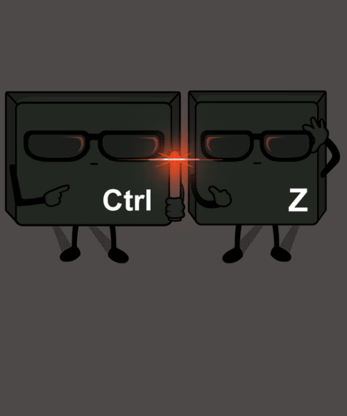 Qwertee: Ctrl + Z IN BLACK