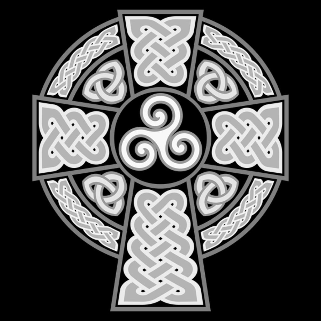 NeatoShop: Irish Celtic Cross B & W