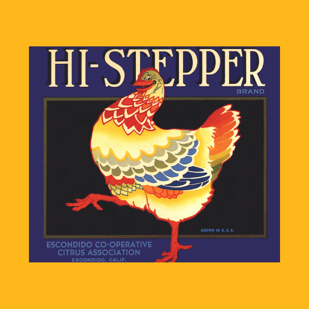 TeePublic: Vintage Hi Stepper Fruit Crate Label