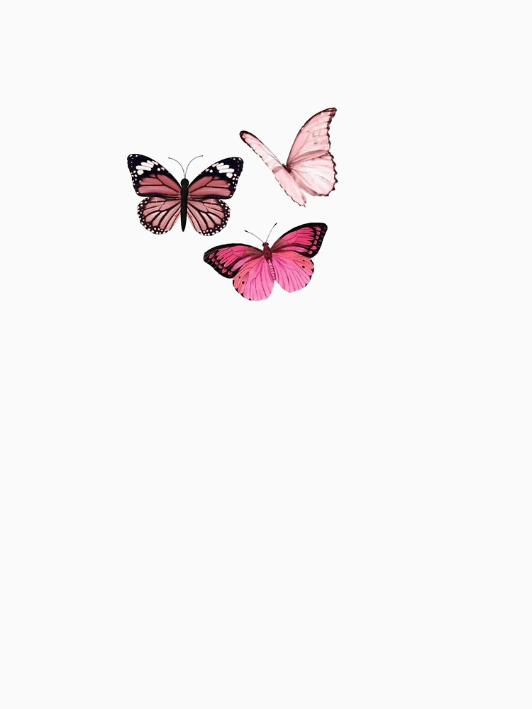 RedBubble: Pink Butterfly stickers *aesthetic*