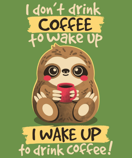 Qwertee: coffee sloth