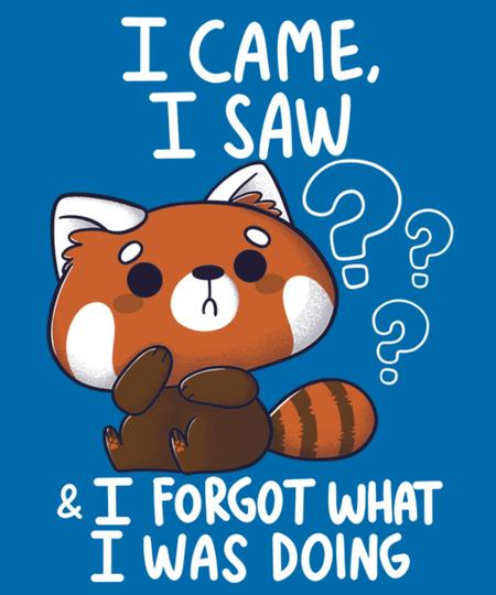 Qwertee: Forgetful Red Panda