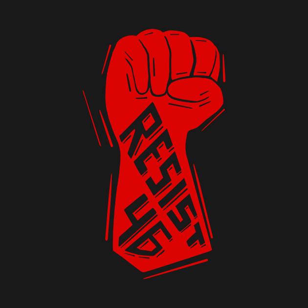 TeePublic: Resist 46 Fist Anti Biden