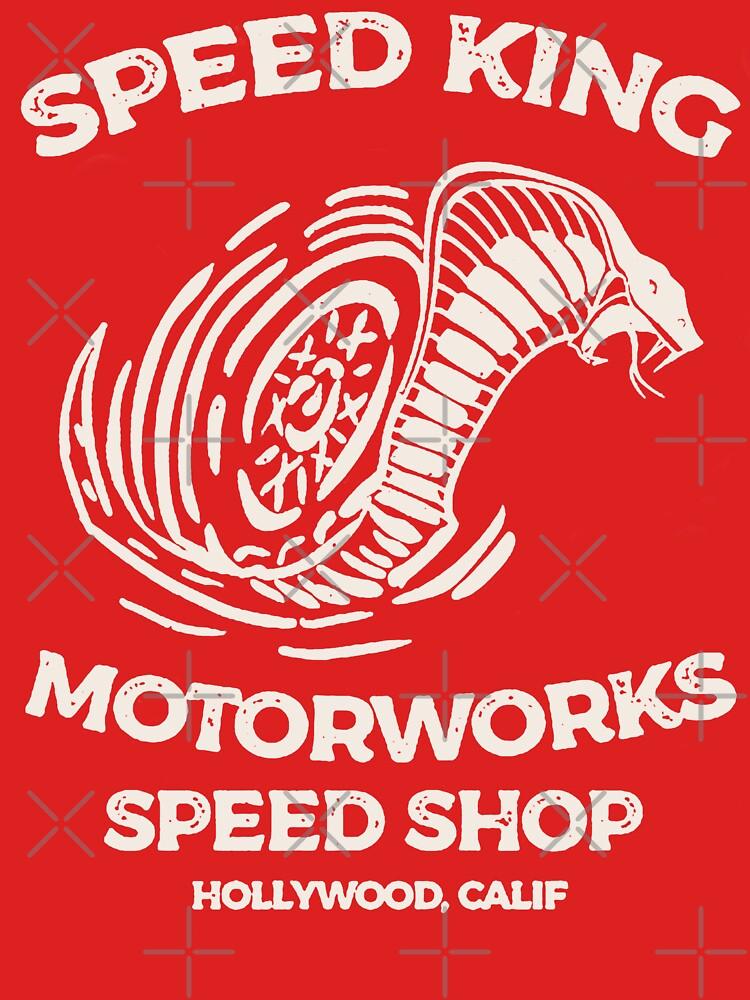 RedBubble: Speed King Motorworks Speed Shop Hollywood, Calif
