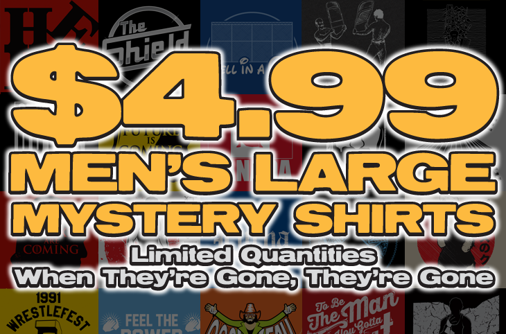 Top Rope Tuesday: Men's Large Mystery Shirt