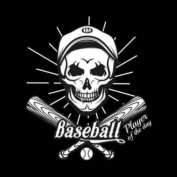 NeatoShop: Baseball Skull
