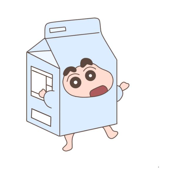 TeePublic: Crayon Shin-chan in a milk carton