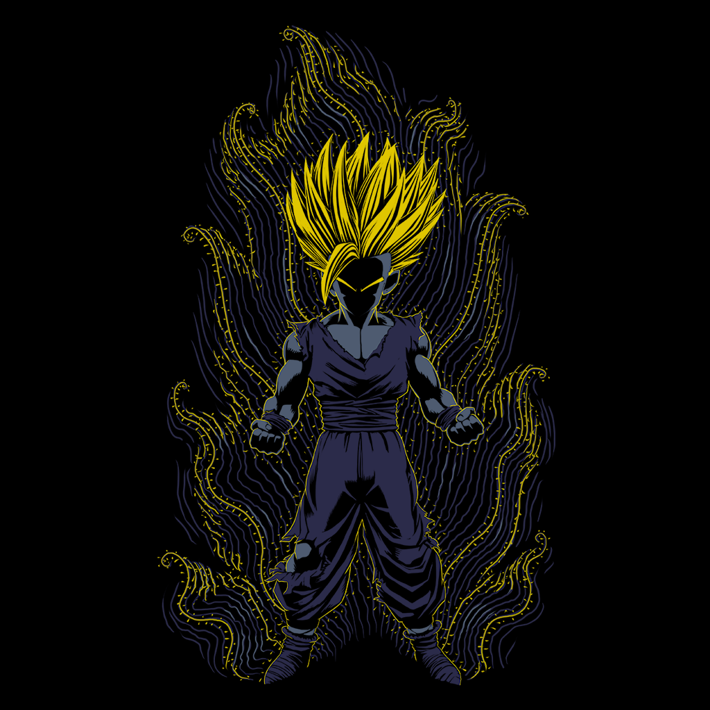 Pop-Up Tee: Impressionist Little Saiyan