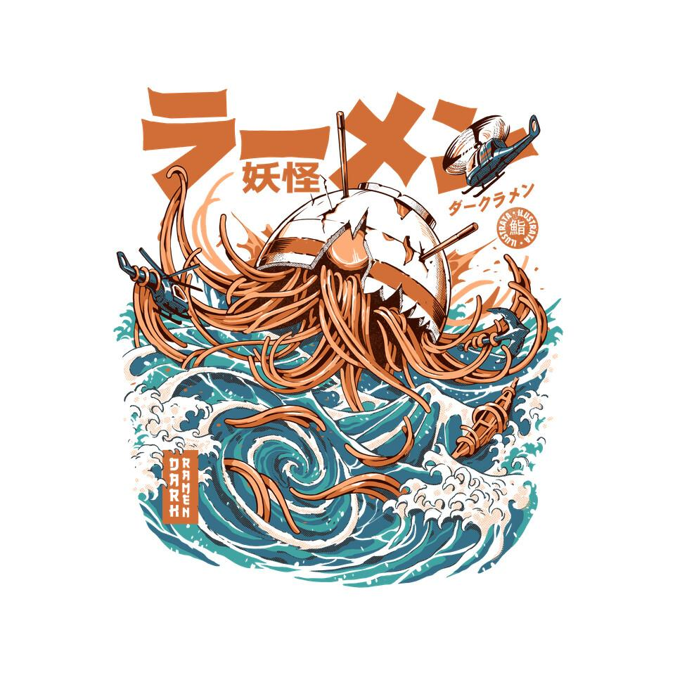TeeFury: Dark Great Ramen Off Kanagawa