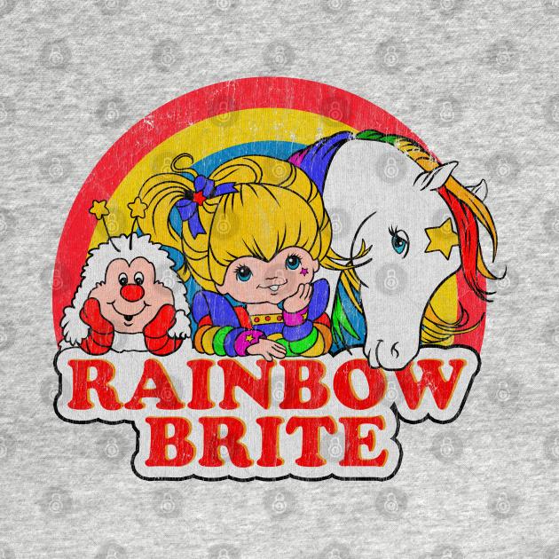 TeePublic: Vintage  Rainbow brite