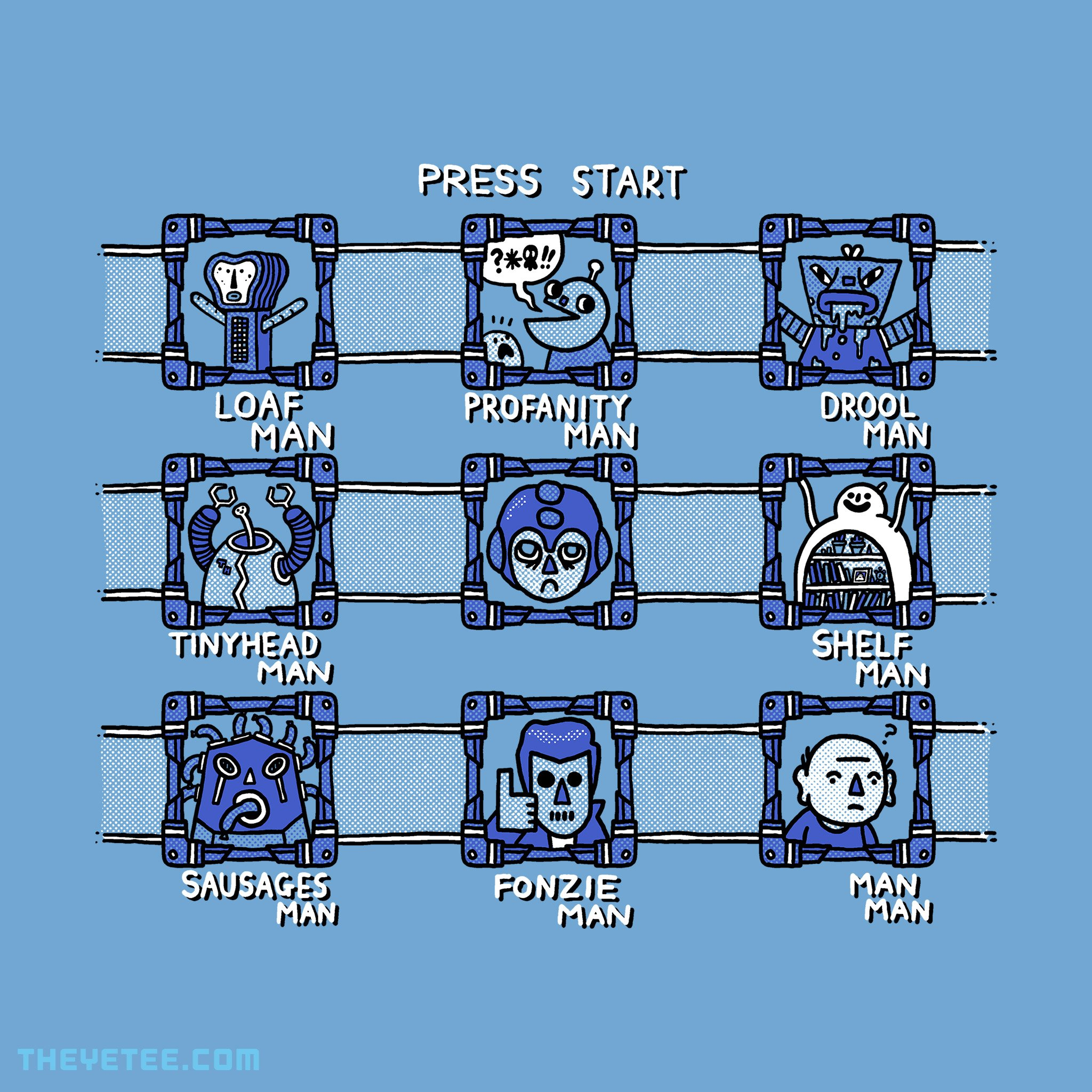 The Yetee: Blue Bomber 1000