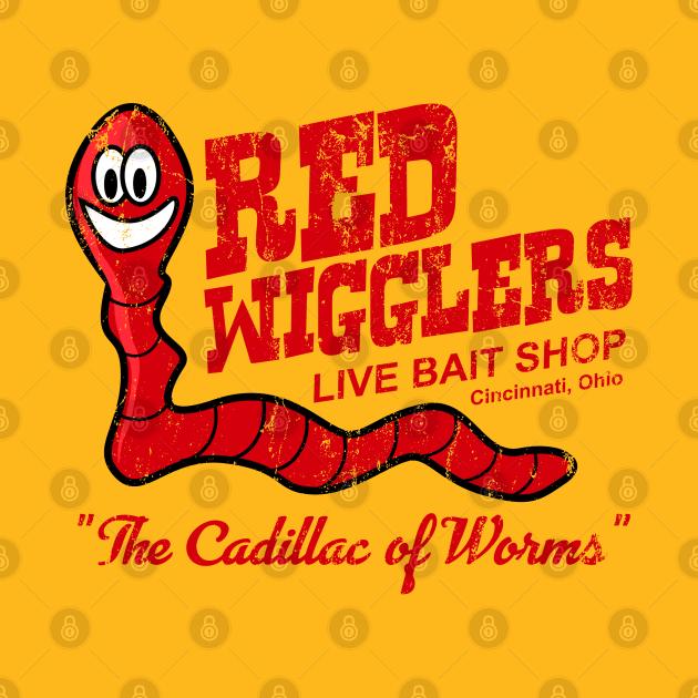 TeePublic: Red Wigglers from WKRP in Cincinnati, distressed
