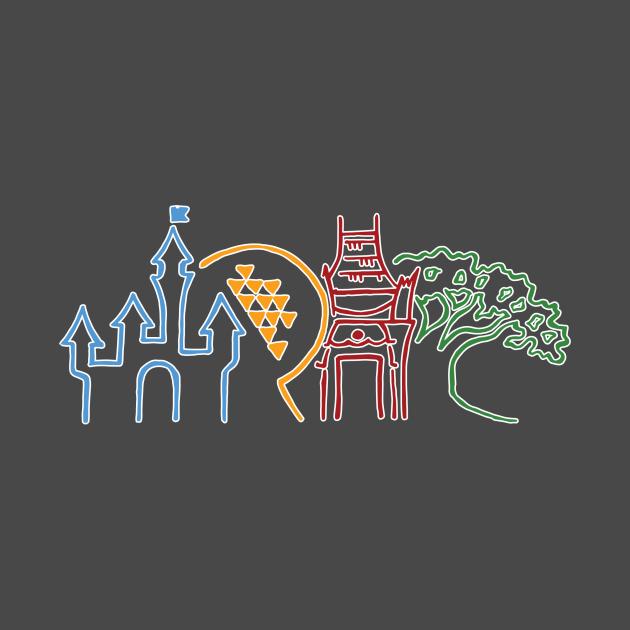 TeePublic: WDW Park Icons