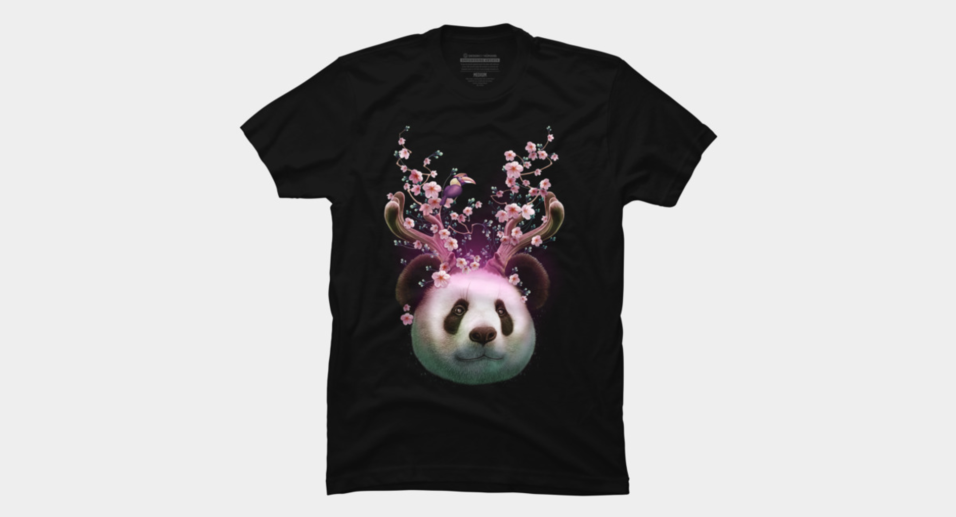 Design by Humans: PANDA HORNS UP