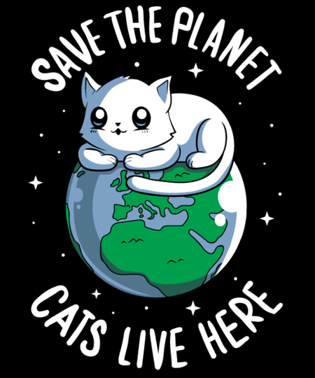 Qwertee: Cats live here