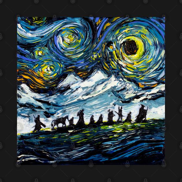 TeePublic: van Gogh Never Met The Fellowship
