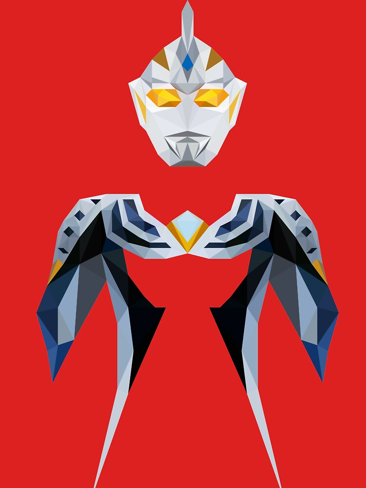 RedBubble: Ultraman Justice (Low Poly)