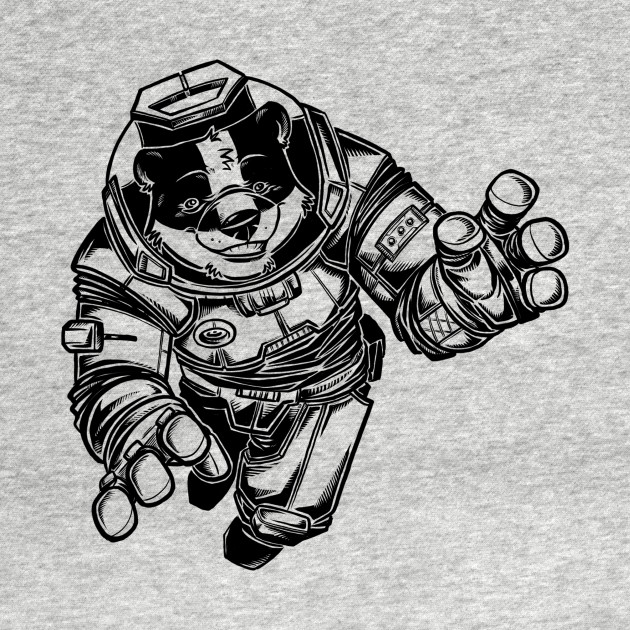 TeePublic: Space Badger