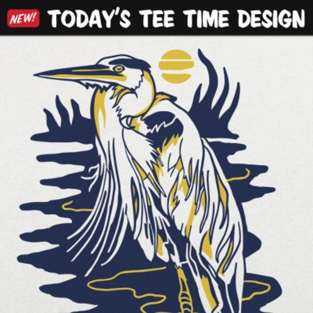 6 Dollar Shirts: Blue Heron