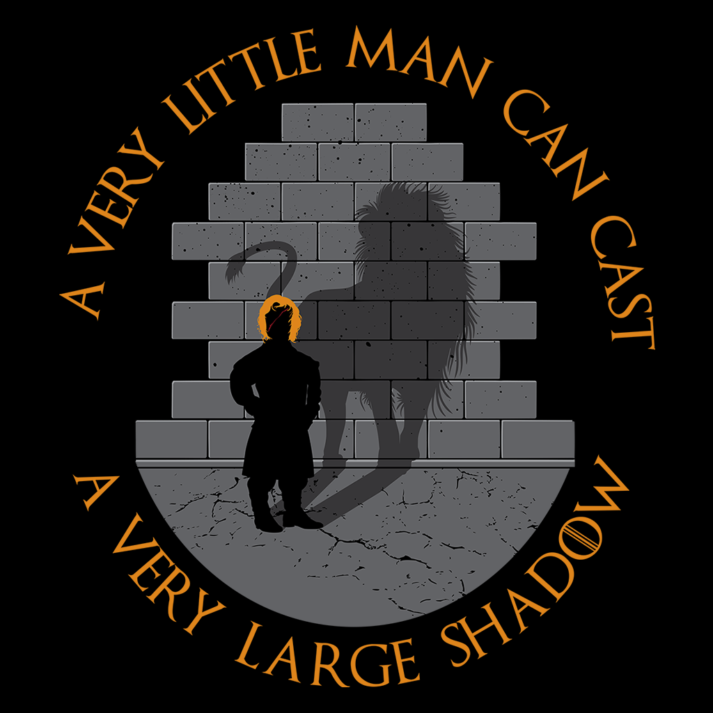 Pop-Up Tee: A Very Little Man Can Cast A Very Large Shadow