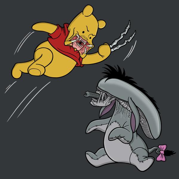 NeatoShop: Eeyore-morph vs. Pooh-dator (no background)