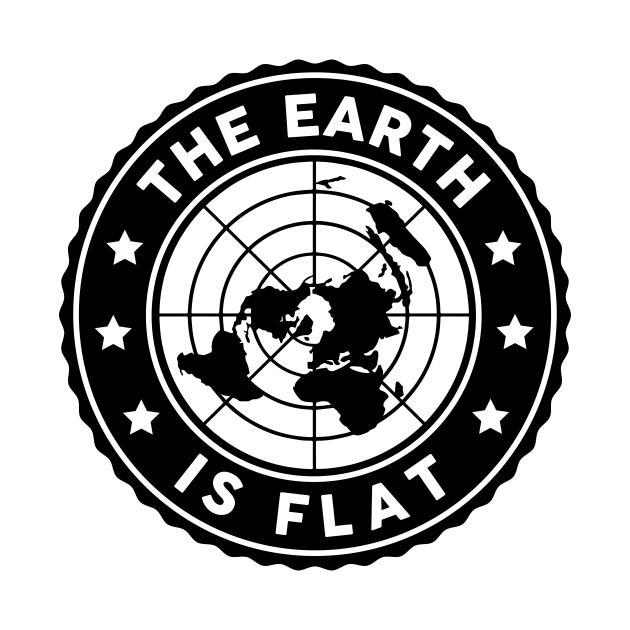 TeePublic: Flat Earth Circle Logo 2