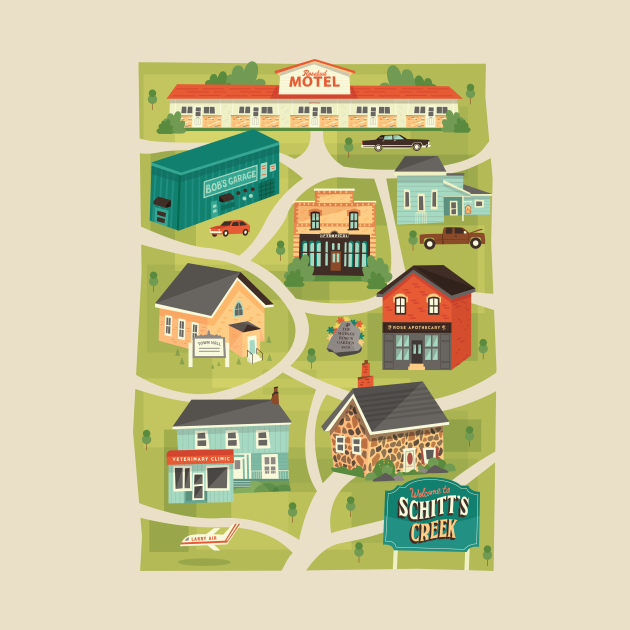 TeePublic: Schitt's Creek Town Map