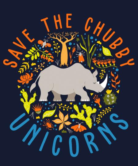 Qwertee: Save The Chubby Unicorns