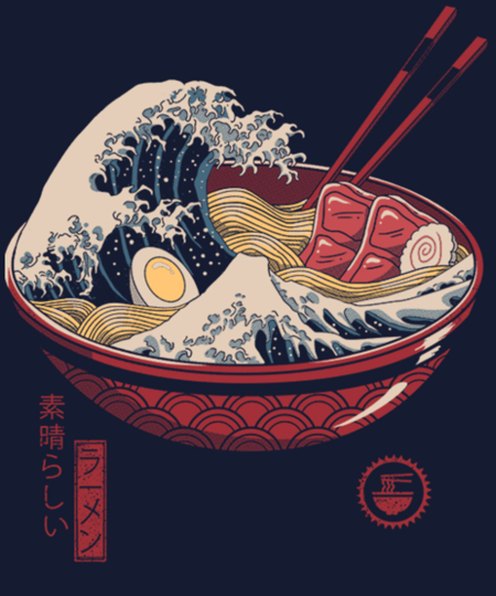 Qwertee: Great Ramen Wave