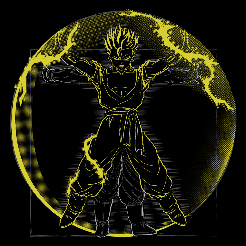 Pop-Up Tee: 1.1 Vitruvian Fire Saiyan Gohan
