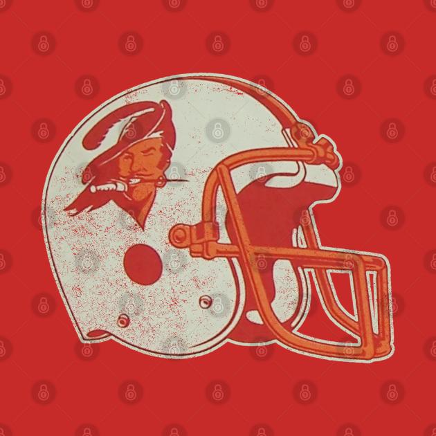 TeePublic: 80's Buccaneers Helmet [Vintage Distressed]