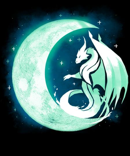 Qwertee: Dragon Moon