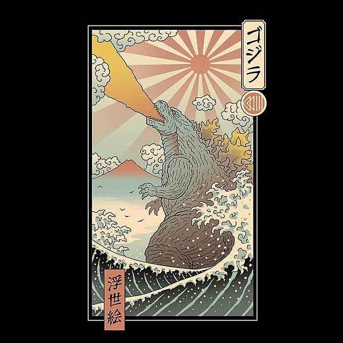 Once Upon a Tee: King Kaiju Ukiyo-e