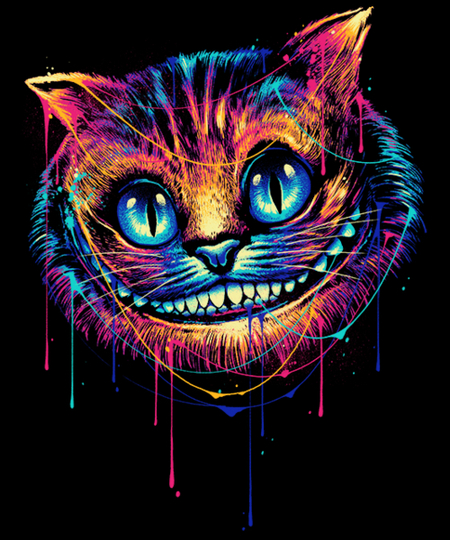 Qwertee: Colourful Cat