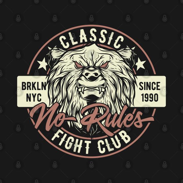 TeePublic: fight club bear