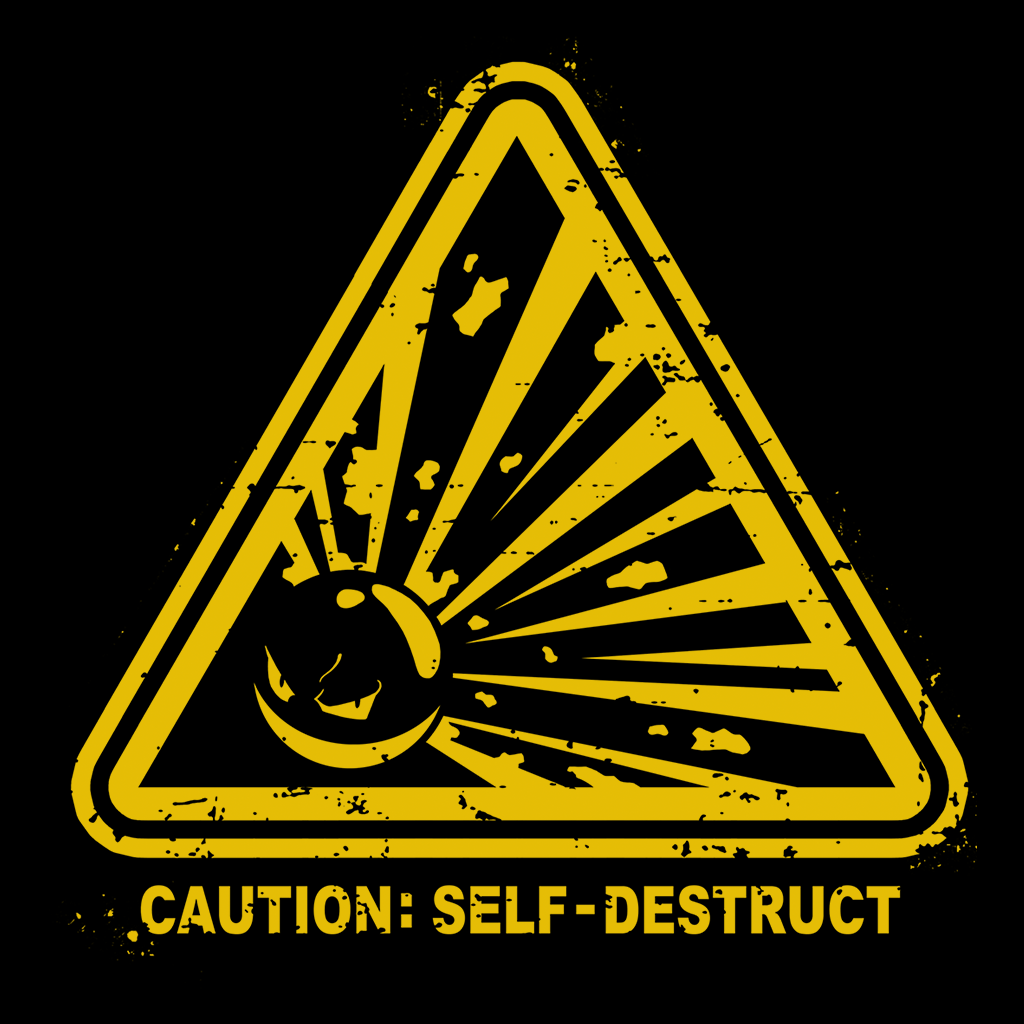 Pop-Up Tee: Self Destruct