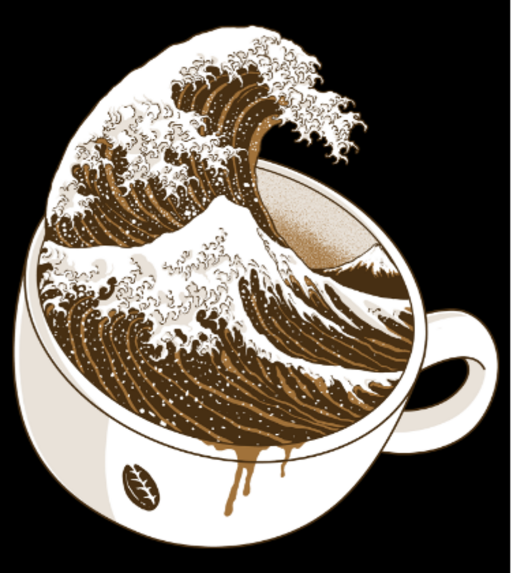 Shirt Battle: The Great Wave off Coffee