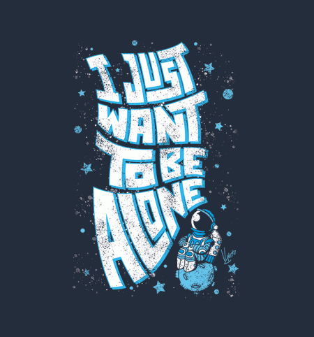 BustedTees: Lonely Astronaut