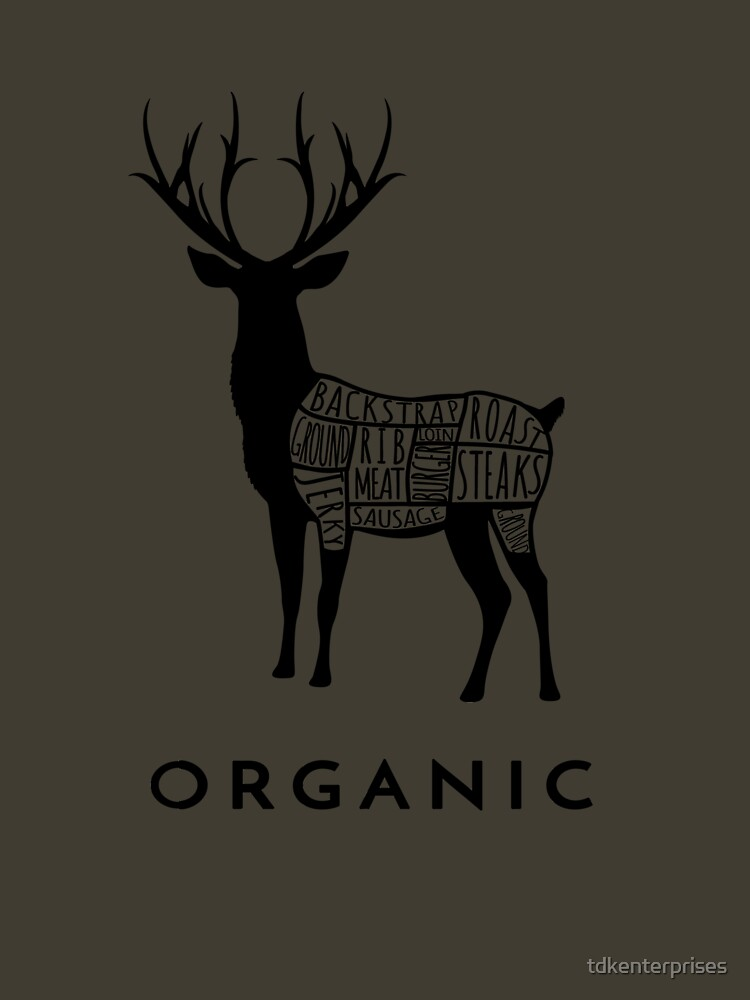 RedBubble: Hunting Deer is Organic Cuts of Meat for Hunters